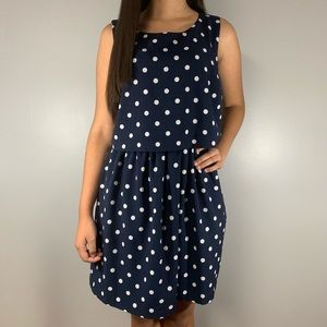 Maison Jules Polka Dot Dress Size Medium